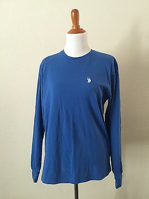 U.S Polo Association Blue Long Sleeve Thermal Winter Relax Shirt Sweater Sm