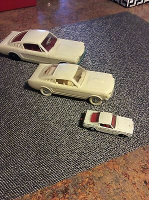 1965 Ford Mustang Fastbacks lot of 3 cars, Promo and Corgi cars, all for 1 price