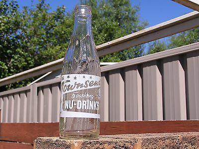 7oz CROWN SEAL CERAMIC LABEL CORDIAL BOTTLE - TOWNSENDS CORDIALS - LAKEMBA