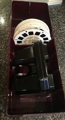 View Master Vintage Lot 1 Sawyer Viewer 17 Reels And Hard Case Good Condition