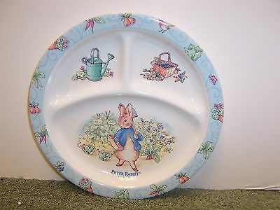 """Peter Rabbit Divided Plate 8.25"""" FW Co. 1996 Eden China"""