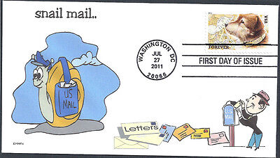 SNAIL MAIL  #1         OWNEY THE POSTAL DOG      FDC- DWc  CACHET