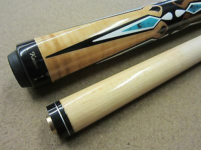 Kaiser Maple Wrapless Turquois Pool Billiards Cue with FREE Shipping