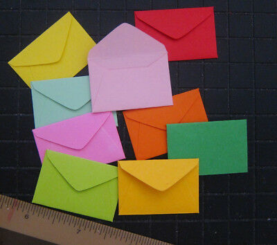 "Handmade miniature envelopes 1""x1-1/2"" paper tiny small mini florist color kraft"