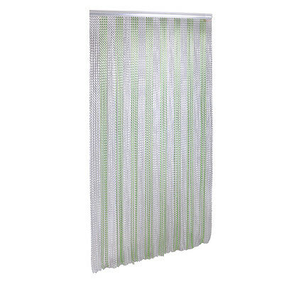 Metal Chain Link Pest Insect Door Screen Curtain Control Aluminium Green Silver