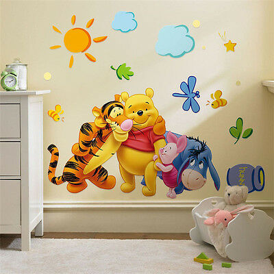 Winnie the Pooh Friends Wall Stickers for Kids Room Nursery Wallpaper Home Decor