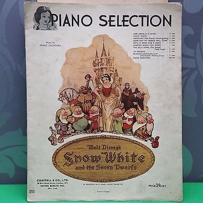 Snow White and the 7 dwarfs - Piano Selection Sheet music 1938