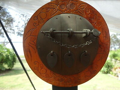 Antique Chinese Cabinet Latch Wall Hanging