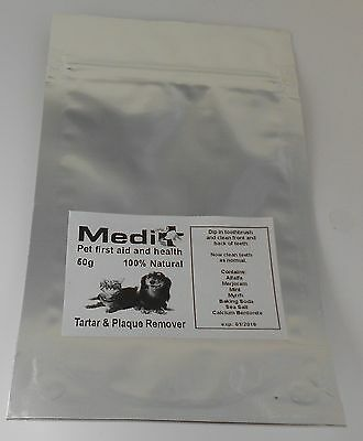 Dog Cat Plaque and Tartar Remover 50g 100% Herbal