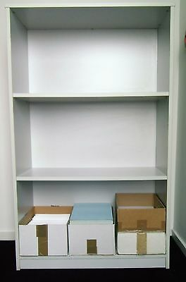 TALL OFFICE BOOKCASE Grey Office Furniture Shelving / Shelves Gray Filing Shelf