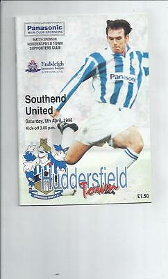Huddersfield Town v Southend United Football Programme 1995/96