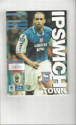 Ipswich Town v Bolton Wanderers Football Programme 1998/99