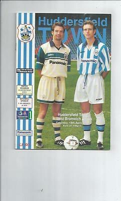 Huddersfield Town v West Bromwich Albion Football Programme 1996/97