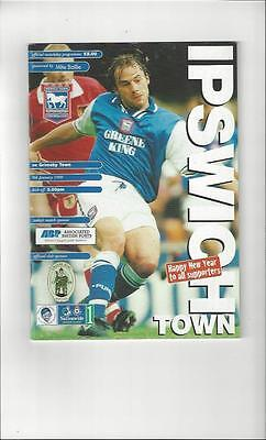 Ipswich Town v Grimsby Town Football Programme 1998/99
