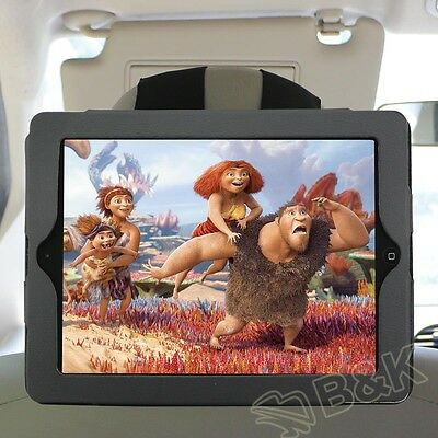 PU Leather Car Seat Headrest Mount Mounting Holder Strap Case for iPad 2 3 4 New