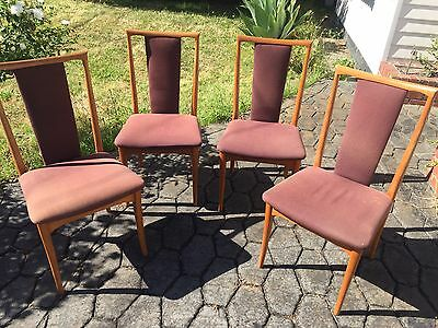 Four Parker Furniture Mid Century High Back Chairs