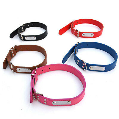 Leather Pet Dog Cat Puppy Collar Neck Buckle Adjustable Neck Strap Collar
