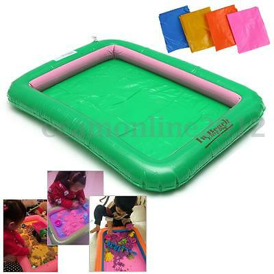 Inflatable Blow Up Sand Tray Holder Sandbox Kids Play Toy Stag Pool Party Game