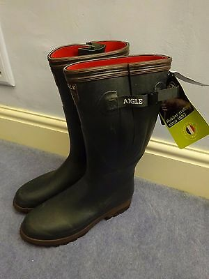 Aigle Wellington Boots, Parcours Iso, Natural Rubber, Thermal, EU 48 UK 12- 12.5