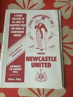Scunthorpe United v Newcastle United Friendly  1993