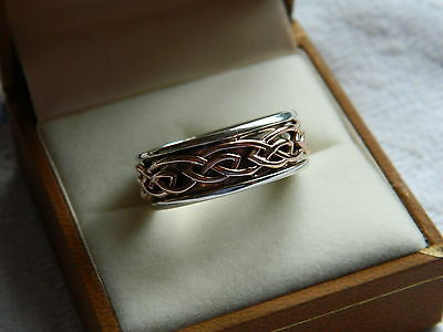 Clogau Silver & Welsh Gold Mens Annwyl Ring size T RRP £300.00