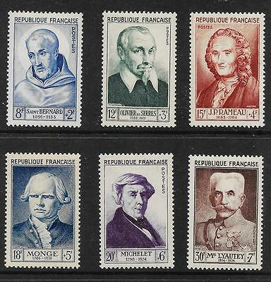 FRANCE 1953 National Relief Fund set of 6 vf MINT  hinged SG 1172 - 1177
