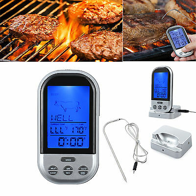 Wireless Digitales Bratenthermometer Funk Grill thermometer Fleisch-Thermometer