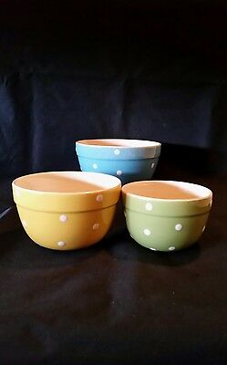 Vintage Retro Collectable Diana Polka Dot Bowl Set