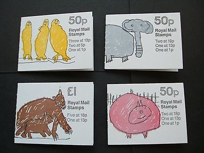 GB Four 1986 Folded Booklets, Complete Set, London Zoo no 1, 2, 3 & 4.
