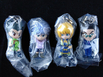 Hunter x Hunter Swing Figure Key Chain Complete set of 4 official Bandai New