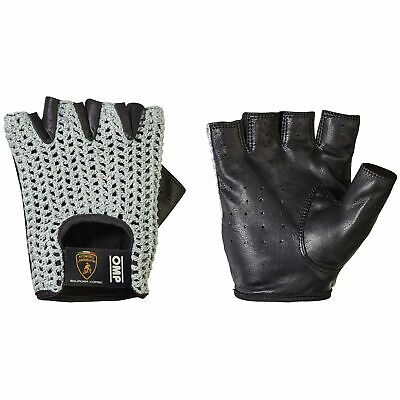 OMP Tazio Stringback Fingerless Driving Gloves Automobili Lamborghini Collection
