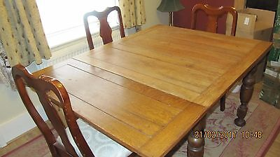Victorian Oak Draw Leaf Dining Table