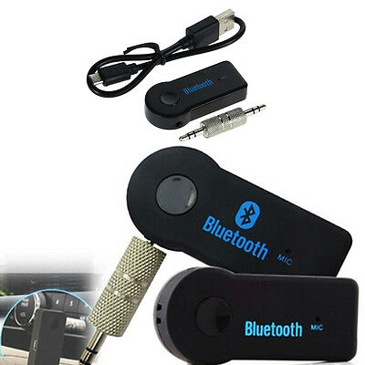 1* Wireless Bluetooth 3.5mm AUX Audio Stereo Music Auto Car Receiver Adapter Mic