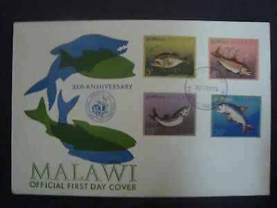 Malawi First Day Cover 1974 - 35th Anniversary of the Angling Society