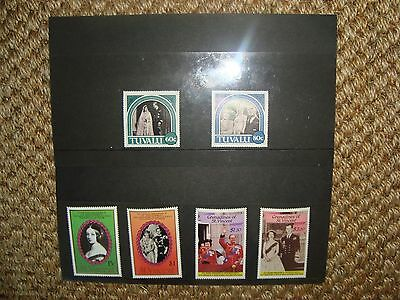 Royalty stamps - 1987 Ruby Wedding Anniversary