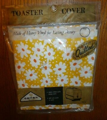 Vintage Carlan Heavy Quilted Vinyl DAISY 2 Slice Toaster Cover NIP