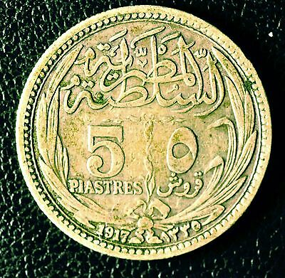 5 piasters Egypt coin (SILVER) 1917