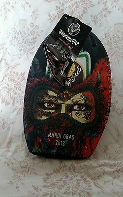 Jagermeister Mardi Gras 750 ML Bottle Stay Cool Pack Koozie multicolored NWT
