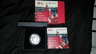 1966 FIFA World Cup £5 Silver Proof Coin
