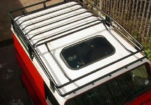 LAND ROVER DEFENDER 90 Expedition style Roof Rack - Black-RE/D90ROOF