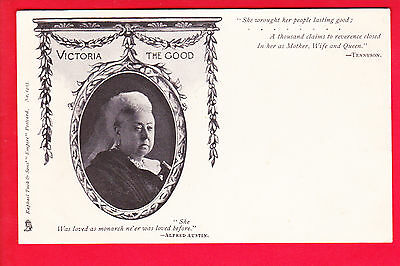 Postcard - QUEEN VICTORIA - Mourning Card - TUCK Undivided Back #1403 - RARE