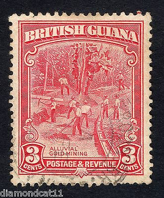 1934 British Guiana 3c Red Gold Minning SG 290 Very Good Used R12607