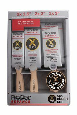 ProDec Advance 6 Piece X-Zero Synthetic Paint Brush Set + Angled Brush (ABPT062)
