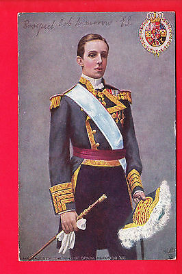 Postcard - H.M. KING OF SPAIN ALFONSO XIII - TUCK #6221 - Posted 1905 - VG PM