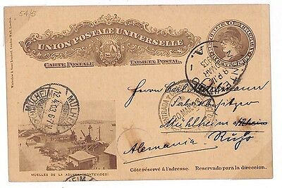 S279 1903 Uruguay *MONTEVIDEO* Postal Stationery {samwells-covers}PTS