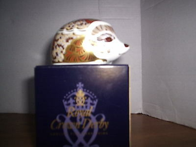 Royal Crown Derby Mistletoe Hedgehog Paperweight- 1St Quality & Boxed