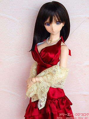 Volks Dollfie Dream Dd Tenshi No Koromo Red Wine Party Dress Set 100% New