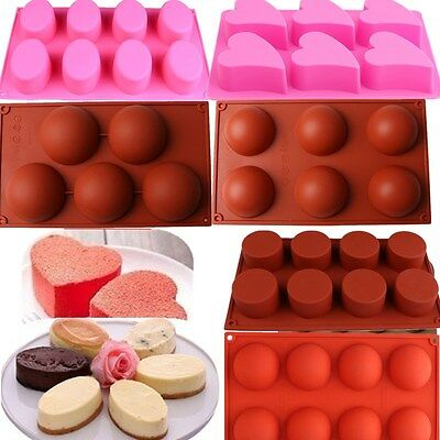 Various Round Shape Silicone Fondant Moulds Baking Mousse Chocolate Soap Molds