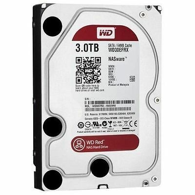 HD Hard Disk WD Red WD30EFRX 3.5 Interno 3TB 7200RPM 64MB SATA III