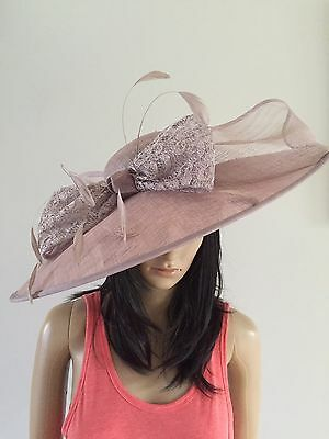 Nigel Rayment Couture Smoky Lilac Wedding Hatinator Hat Mother Of The Bride
